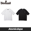 Deviluse Heartaches ポケット付き ビッグ Tシャツ 黒 白 Big T-shirts Black White デビルユース
