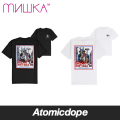 【MISHKA】LAMOUR UNCLE Tシャツ 半袖 黒 白 TEE Black White ミシカ