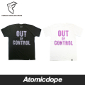 【Famous Stars And Straps】Out of Control Tシャツ 半袖 黒 白 Tシャツ TEE Black White フェイマススターズアンドストラップス
