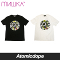 MISHKA LAMOUR ENDLESS BUMMER KEEP WATCH Tシャツ 半袖 黒 白 TEE Black White ミシカ