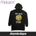 【送料無料】【MISHKA】SPLIT DEATH ADDER KEEP WATCH プルオーバーパーカー 黒 PULLOVER PARKA Black ミシカ