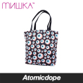 MISHKA ALL OVER KEEP WATCH トートバッグ 鞄 黒 目玉 総柄 TOTE BAG Black ミシカ
