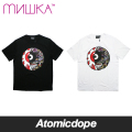 【送料無料】【MISHKA】NEON SPLIT KEEP WATCH Tシャツ 半袖 黒 白 T-SHIRTS Black White ミシカ