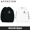 【AFFECTER】BEFORE ロンT ロングスリーブ Tシャツ 長袖 黒 白 LONG SLEEVE T-SHIRTS Black White アフェクター
