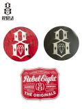【REBEL8】ステッカー シール 黒 赤 HOPS / CRASH N BURN LOGO / ROUND LOGO FOIL STICKER Black Red / 3枚パック
