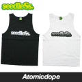 【seedleSs】monotone gradation logo タンクトップ 黒 白 tanktop Black White シードレス