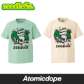 seedleSs skull vacation Tシャツ 半袖 緑 白 S/S TEE Green Natural シードレス