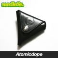 【seedleSs】s-dot leather triangle coin wallet 財布 コインケース 黒 Black シードレス
