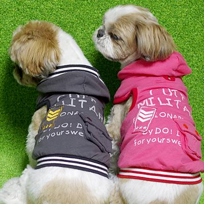 かわいい犬用パーカー(服)