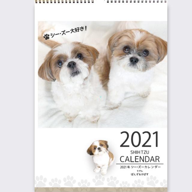 2021年シーズーカレンダー壁掛け
