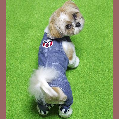 犬用デニムカバーオール