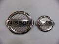 NISSAN MG22S MOCO専用フロント&リヤエンブレムシルバーカーボンフィニッシャーセット