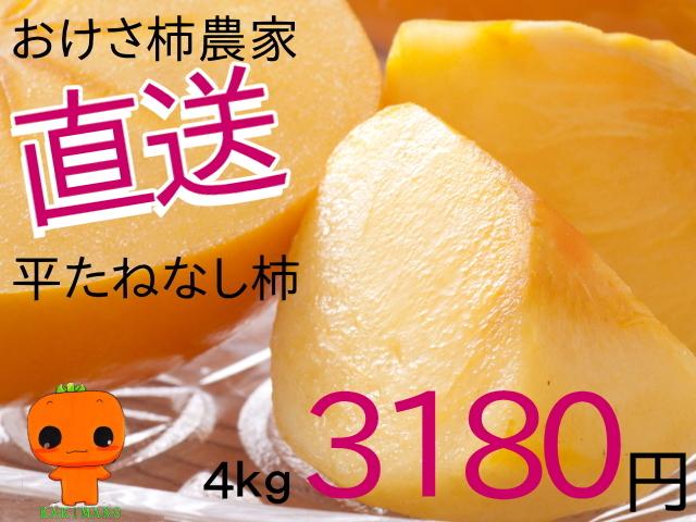 おけさ柿農家直送 4kg3180円