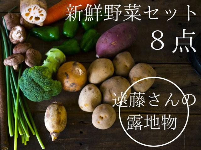 新潟県阿賀野産 朝採り新鮮野菜セットを農家直送!8点セット