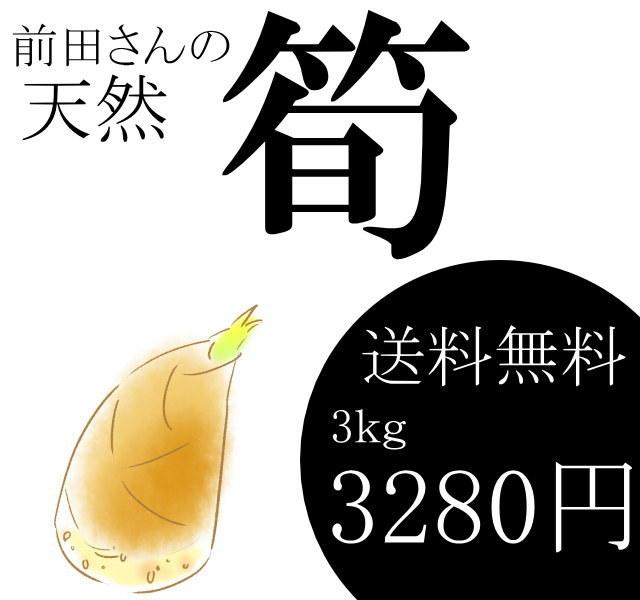前田さんの天然タケノコが3kg3280円で送料無料!
