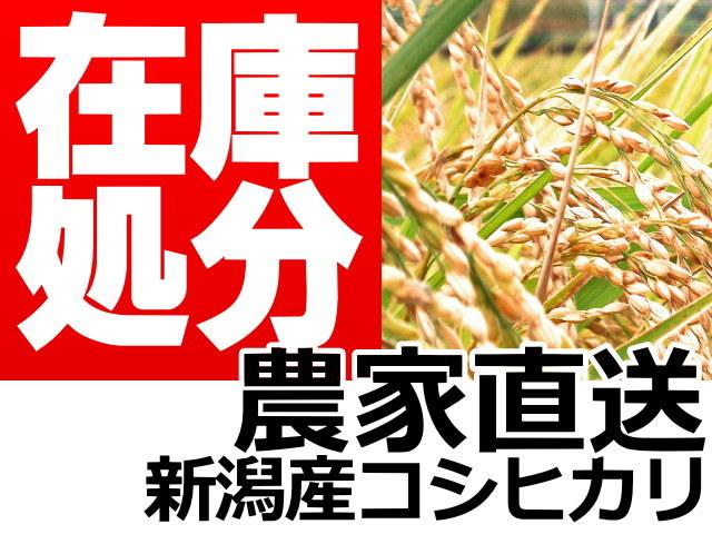 農家直送!新潟産コシヒカリ。在庫処分セール