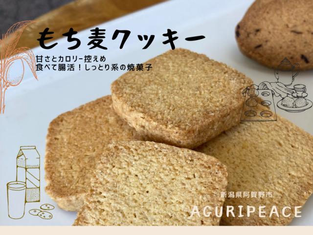 食べて腸活!新潟県阿賀野市産はねうまもち麦使用のもち麦クッキー