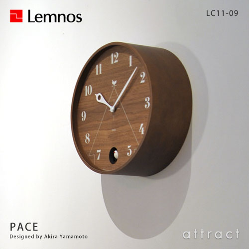 Lemnos レムノス PACE パーチェ LC11-09 カッコー時計 鳩時計 カラー:2色 デザイン:山本 章