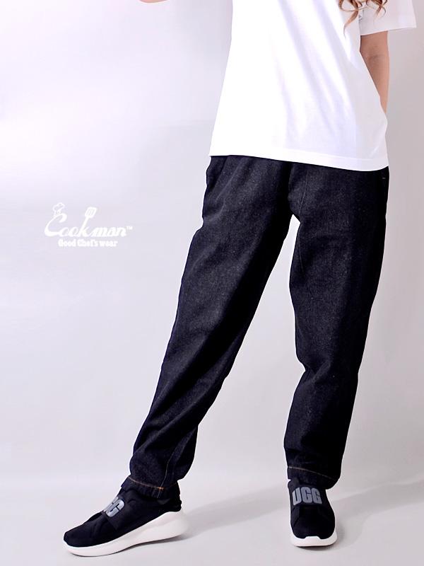 COOKMAN,クックマン,シェフパンツ,chef,pants,デニム,メンズ,レディース,ユニセックス,Chef,Pants,Denim,コックマン,ブラック,231-01887