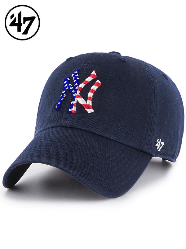 47Brand,フォーティセブン,キャップ,メンズ,Yankees,47,CLEAN,UP,ヤンキース,スパングルドバナー,クリーンナップ,B-SPGBN17GWS-NYA