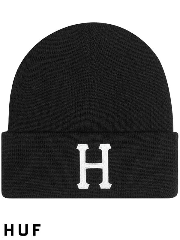 HUF,ハフ,キャップ,ニット帽,メンズ,レディース,ユニセックス,帽子,CLASSIC,H,BEANIE,ニットキャップ,BN00074-B