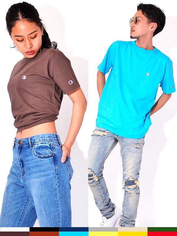 CHAMPION,チャンピオン,Tシャツ,レディース,メンズ,ユニセックス,半袖,綿100%,,Cロゴ,日本規格,クルーネック,ベーシック,C3-P300,C3-H359