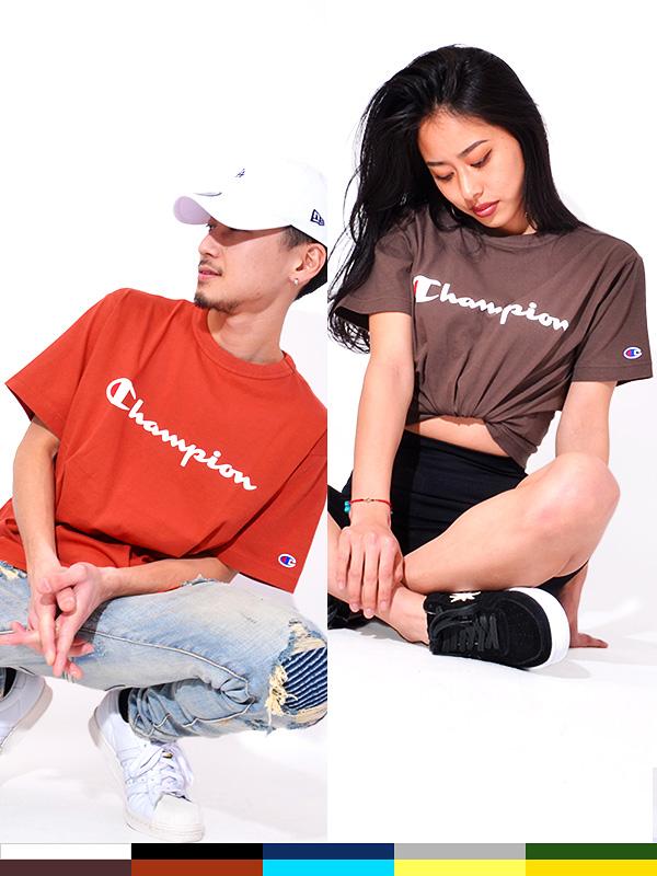 CHAMPION,チャンピオン,Tシャツ,レディース,メンズ,ユニセックス,半袖,ブランド,無地,スポーツ,カジュアル,綿100%,日本規格,C3-P302