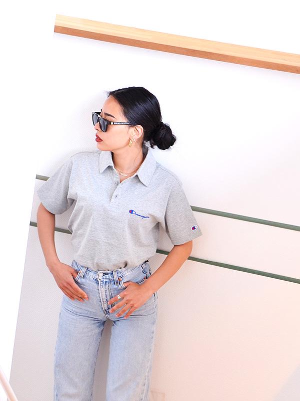 CHAMPION,チャンピオン,ポロシャツ,レディース,メンズ,ユニセックス,半袖,綿100%,おしゃれ,ゴルフ,ブランド,無地,ロゴ,C3-P306