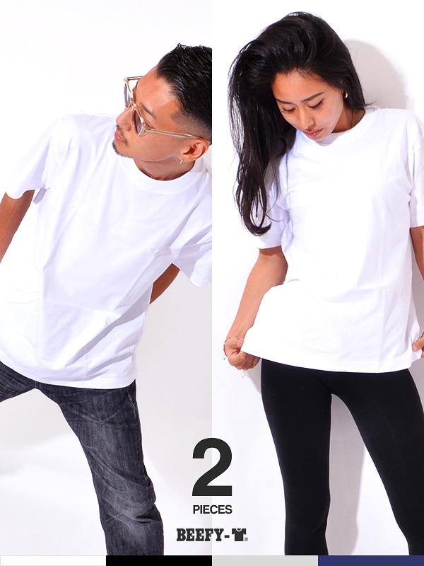 通販,Hanes,ヘインズ,Tシャツ,BEEFY-T,ビーフィー,半袖,無地,2枚組,2枚セット,2PACK,2PIECES,ヘビーウエイト,丸胴,H5180-2