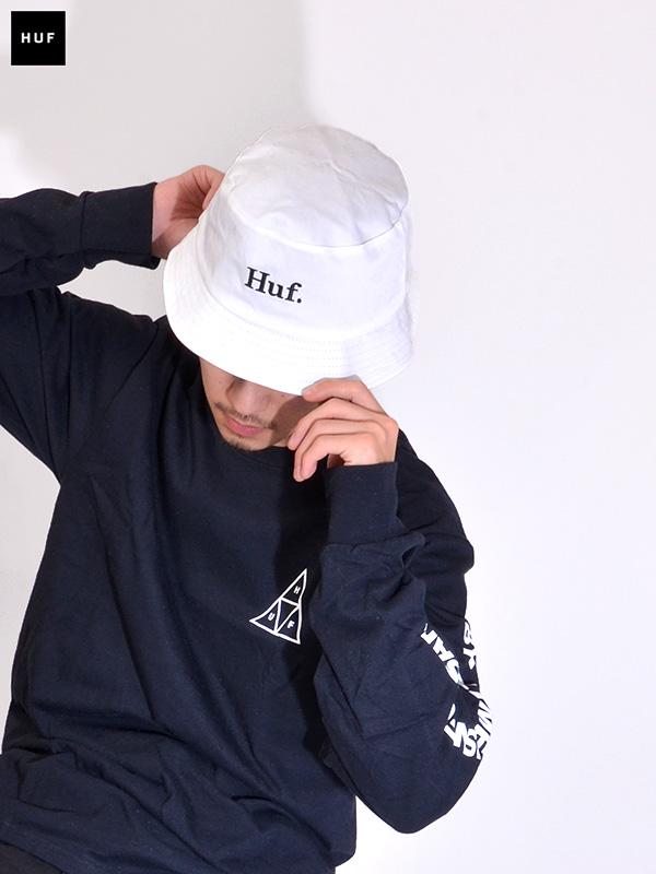 HUF,ハフ,ハット,メンズ,レディース,ユニセックス,ブランド,帽子,バケットハット,バケハ,白黒,リバーシブル,おしゃれ,かわいい,HT00496
