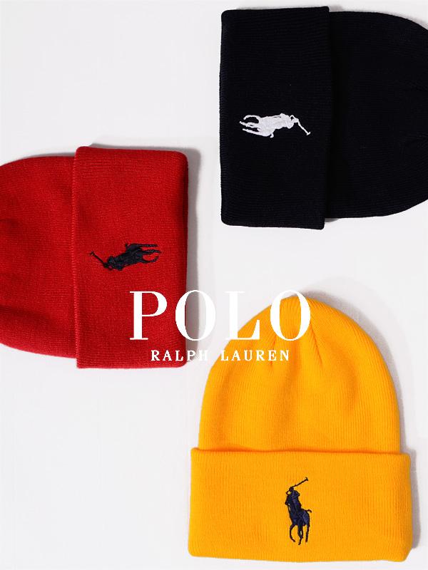 POLO,RALPH,LAUREN,ポロ,ラルフローレン,帽子,ニット帽,レディース,メンズ,ユニセックス,ブランド,かわいい,BIG,PONY,CUFF,HAT,PC0436