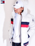 TOMMY,HILFIGER,トミー,ヒルフィガー,ジャケット,中綿ジャケット,メンズ,NYLON,QUILTEDCOLOR,BLOCKEDHOODY,BOMBER,JACKET,158AN594-I