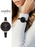 Rumba,Time,ルンバ,タイム,時計,腕時計,レディース,メンズ,ユニセックス,Orchard,Wave,オーチャード,ブラック,ローズゴールド,28683