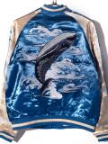 ジャパネスク,スカジャン,波,海,鯨,クジラ,JAPANESQUE,ジャケット,アウター,3RSJ-041