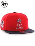 47Brand,フォーティセブン,キャップ,スナップバック,メンズ,Angels,Sure,Shot,47,CAPTAIN,Red,エンゼルス,MLB00913,B-SRSTT04WBP-RD