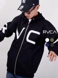 RVCA,ルーカ,パーカー,メンズ,レディース,ユニセックス,大きめ,裏起毛,FAKE,RVCA,ZIP,HOODIE,ジップパーカー,BA042-024