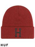 HUF,ハフ,キャップ,ニット帽,メンズ,レディース,ユニセックス,帽子,CLASSIC,H,BEANIE,クラシック,ロゴ,ニットキャップ,BN00074-R
