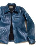 ダブル,ヘリックス,Double,Helix,ライダースジャケット,レザージャケット,Classic,1930s,スポーツジャケット,藍染め,馬革,日本製,180402