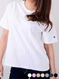 CHAMPION,チャンピオン,Tシャツ,レディース,半袖,綿,100%,カジュアル,スポーツ,白,黒,綿,100%,カットソー,インナー,日本規格,CW-M322