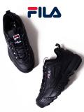 FILA,フィラ,スニーカー,レディース,メンズ,黒,ブラック,ダッドシューズ,ダッドスニーカー,DISRUPTOR,2,靴,シューズ,F0215-1073