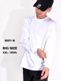 Hanes,BEEFY,ヘインズ,ビーフィー,Tシャツ,メンズ,レディース,長袖,黒,白,ビッグサイズ,大きいサイズ,XXL,XXXL,綿100%,無地,H5186L