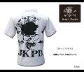 【JUNKY'S PARADISE】ジャンキーパラダイス「ボーンスカル」半袖ポロシャツ[ホワイト]/品番:JPS-802(髑髏,バイカー,ロック,◆)