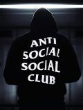 Anti,Social,Social,Club,パーカー,レディース,メンズ,ユニセックス,黒,ブラック,アンチソーシャルソーシャルクラブ,ORIGINAL-L-H-B