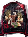 花旅楽団,スカジャン,猫,花魁,ネコ,着物,化け猫,富士山,SCRIPT,スクリプト,ジャケット,アウター,SSJ-519