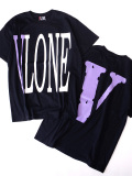 VLONE,ヴィーロン,ヴィーローン,Tシャツ,半袖,STAPLE,T-SHIRT,S/S,TEE,BLACK/PURPLE,A$AP,Mob,エイサップ,ASAP,STAPLE-SST-BP