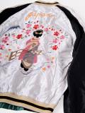 TAILOR,TOYO,テーラー東洋,スカジャン,2019,メンズ,レディース,ユニセックス,舞妓,×,WHITE,EAGLE,1950年代中期,TT14465-190