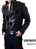 VANSON,バンソン,ライダースジャケット,レザーライダース,B,メンズ,本革,牛革,スタンドカラー,シングルライダース,ライナー付き,VB-B