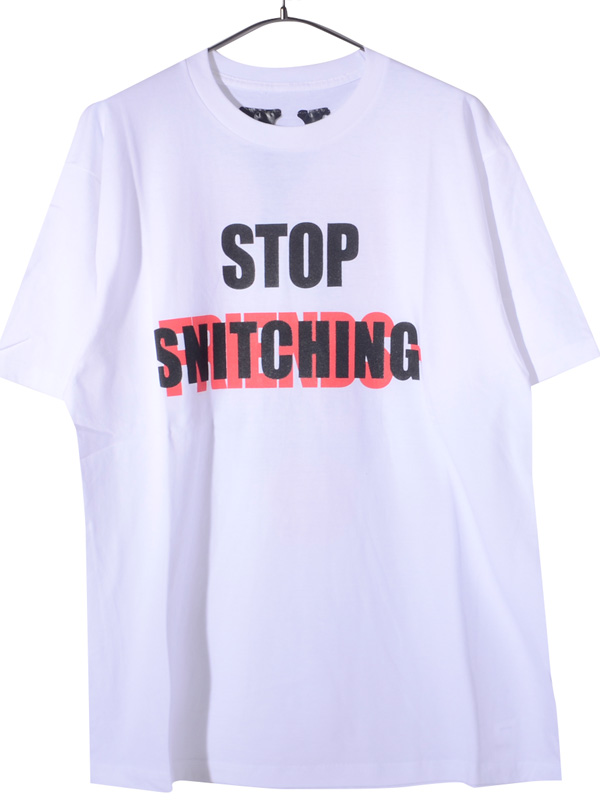 VLONE,ヴィーロン,ヴィーローン,Tシャツ,半袖,STOP,SNITCHING,SS,TEE,WHITE,フレンズ,FRIENDS,A$AP,Mob,STOP-S-SS-T