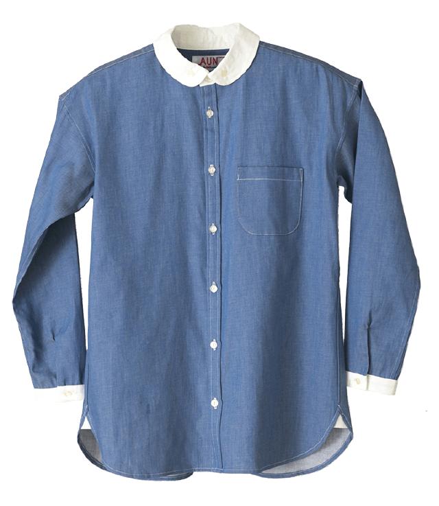 襟白レインビーズシャツ (Two‐tone Rainbeads shirts)