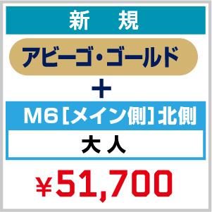 【新規】2021_FC 年会費(アビーゴ・ゴールド)+ シーズンシート_M6[メイン側]北側 大人